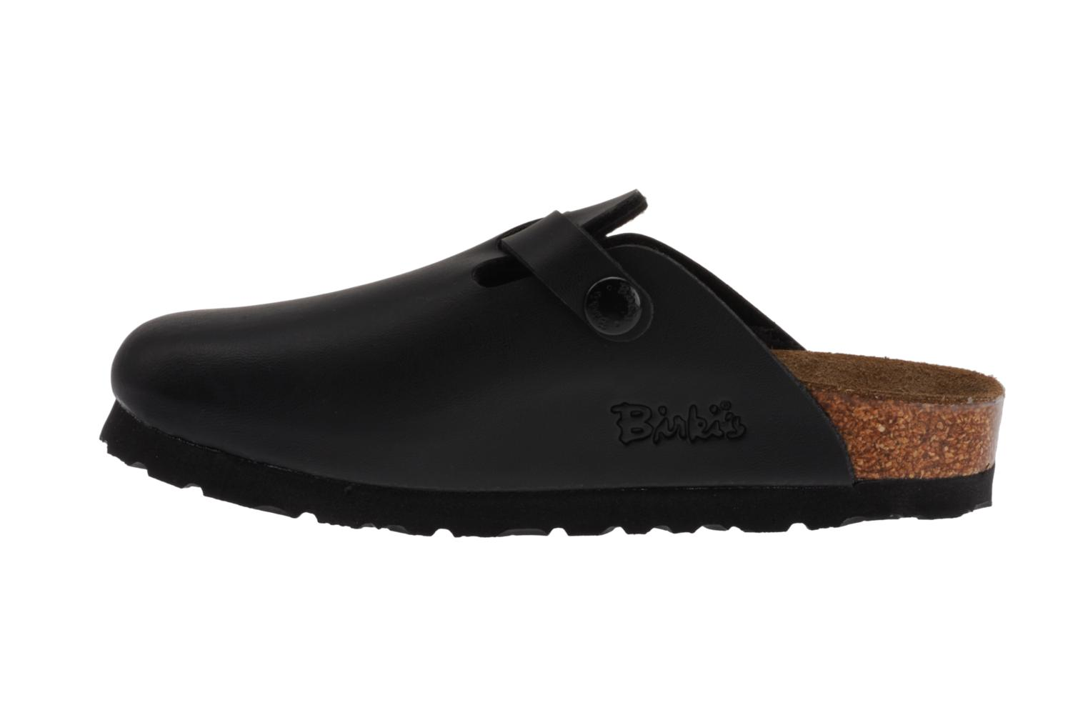 Sandals Birkenstock Woodby Birko Flor E Black front view